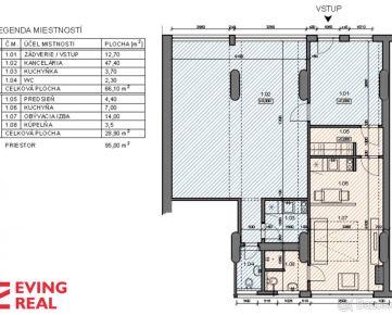 Nebytové priestory o rozlohe 95 m2  v blízkosti Račianskeho mýta