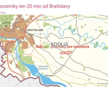Pozemky na predaj v obci Hubice, len 20km od Bratislavy a 8km od D4R7.