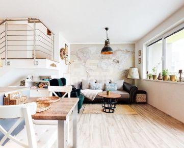 PREDAJ, novostavba 4 izbového mezonetového bytu s veľkou terasou, ul. Cementárenská,  Stupava