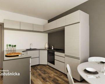 NA PREDAJ   2 izbový byt 54m2 +  balkón, 4np. - Rezidencia Kožušnícka / byt A25