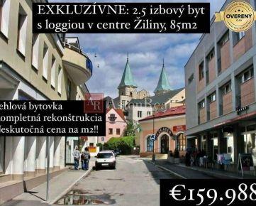 PREDANÉ: Nádherný 2.5i byt v centre Žiliny, 85 m2 + loggia, Žilina