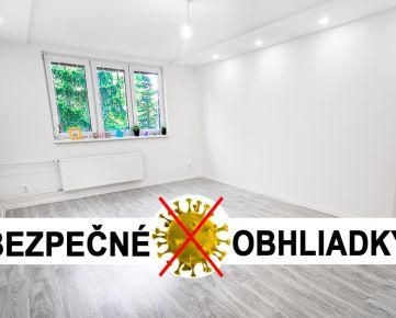 UVÁDZACIA CENA: BA II, Exnárova ul., 3 izbový byt, 77 m2, kompletná rekonštrukcia 2020