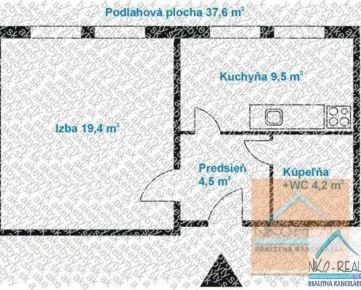 NOVO zrekonštruovaný 1 izb. byt, FEDINOVA ul.