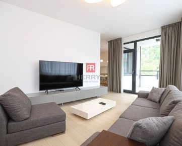 HERRYS - Na prenájom moderný 3 izbový byt s balkónom a garážovým státím v projekte Zuckermandel pri nábreží Dunaja