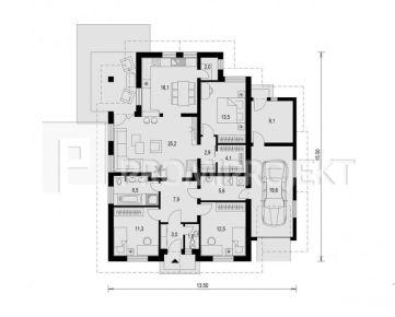 RD Bungalov 4-izb., podlahová plocha - 142 m2, Zohor, NOVOSTAVBA, 540 m2 POZEMOK