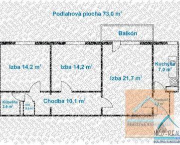 3 izb. byt, NARCISOVA ul., po kompletnej rekonštrukcii