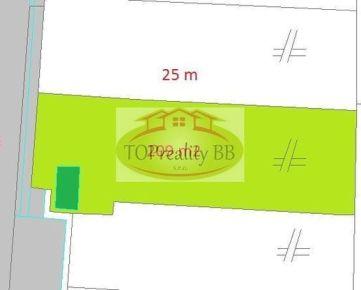 Záhrada  209 m2 s chatkou,  centrum B. Bystrica – cena 12 500€