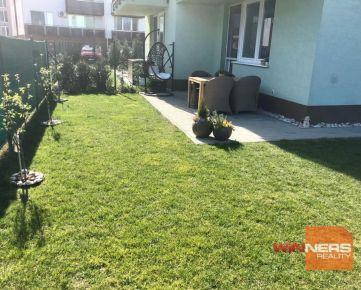 Priestranný 3 – izbový byt so záhradou a 2x park.státie v novostavbe v Slovenskom Grobe