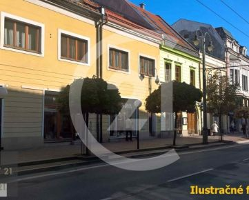 Prešov, Hlavná ul., obchodné priestory na prenájom