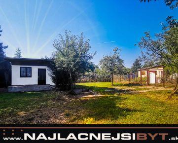 NOVÁ CENA Najlacnejsibyt.sk: Slnečná chata v Malackách, prístup autom na pozemok