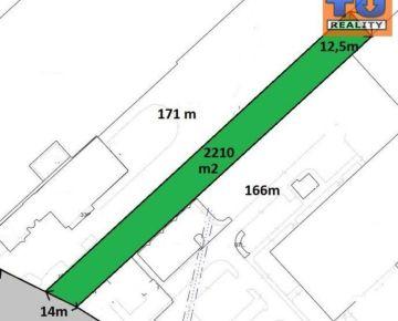 Prenájom, stavebný pozemok na priemyselnú výstavbu o výmere 2210 m2, Trnava.