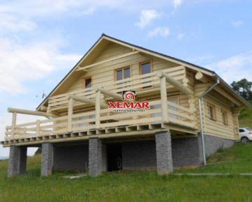Na predaj novostavba dreveného zrubu na slnečnom pozemku v Pliešovciach- ZNÍŽENÁ CENA!!!