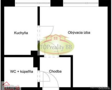 Byt 1 izbový byt, bauring, čiastočná rekonštrukcia, B. Bystrica, Fončorda – Cena 70 000€