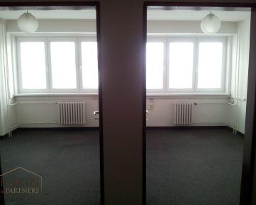 LEN: 7,50€/m2/mesiac. Prenájom dvojkancelárie s WC/ sprchou 36m2 + parkovanie, Bulharská, BA II., Trnávka