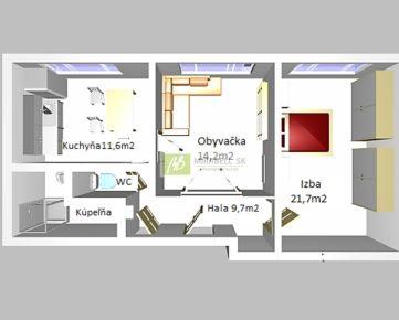 Slnečný 2 izb. byt vo vyhľadávanej lokalite v blízkosti Mlynských Nív