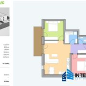 3-izb. byt 68m2, novostavba