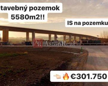 PREDAJ: Stavebný pozemok s IS a príjazdovou komunikáciou, 5. 580 m2, ZA