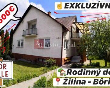 EXKLUZÍVNE na predaj: RODINNÝ dom - Žilina BÔRIK, 870 m2 pozemok
