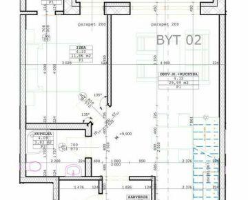 Predáme novostavbu 3+kk mezonetového bytu, Bytča, R2 SK.