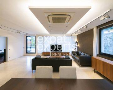 Nadštandardný 5i byt, 280 m2, zariadený, parkovanie, 2 x terasa