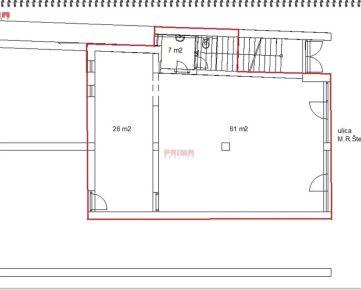 ID 2653  Prenájom: obchodný priestor, 94 m2, centrum