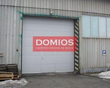 REZERVOVANÉ | prenájom výrob. priestoru (42 m2, príz., vykur., umývadlo, WC, vjazd, parking)