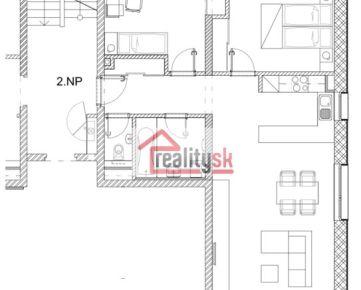 3 izbový byt, novostavba, 77 m2