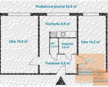 Rekonštrukcia BEZ STAROSTÍ - 2 izb. byt, GALBAVÉHO ul.