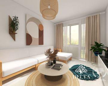 DELTA | Priestranný 3 izbový byt v pôvodnom stave, Štefunkova, Ružinov – Pošeň, 86 m2