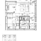 1-izb. byt 45m2, novostavba