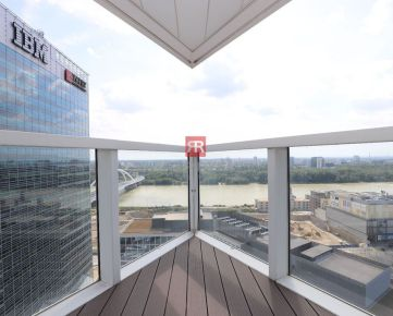 HERRYS - na prenájom slnečný a priestranný 3 izbový byt s výhľadom na Dunaj  v projekte PANORAMA CITY