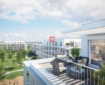 HERRYS - Na predaj 2 izbový apartmán s terasou a predzáhradkou v projekte Nový Ružinov