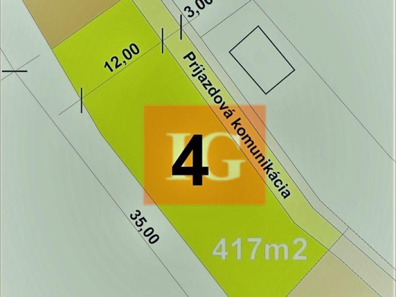 Pozemok pre rodinné domy 521m2