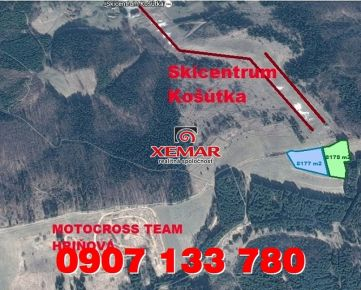 Predaj- rekreačný pozemok- 2,50 €/m2- Hriňová- Skicentrum Košútka