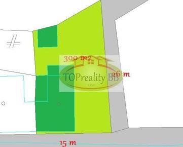 Slnečný pozemok  300 m2 s domom,  14 km od B. Bystrice - cena 44 000€