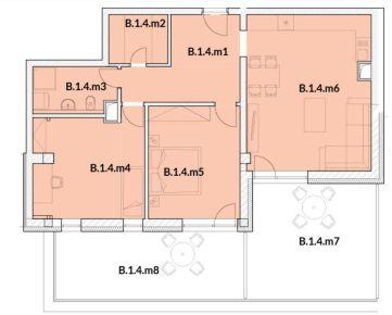IMPEREAL - Predaj 3 izb. 1/5p. 123,24 m2 PANORAMA - BLOK B.- Nitra