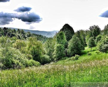 Priestranný pozemok pod lesom v krásnom prostredí pod Poľanou