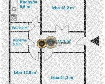 3 izbový byt s loggiou Košice Ťahanovce