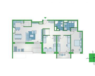 Priestranný 4-izbový byt s dvomi kúpeľňami, terasou a lodžiou v NUPPU, Ružinov (D1202)