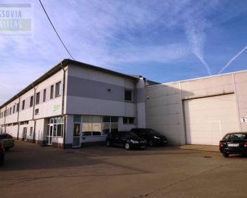 Prenájom halových a kancelárskych priestorov:2075m2, 419m2, 558m2, Prešov