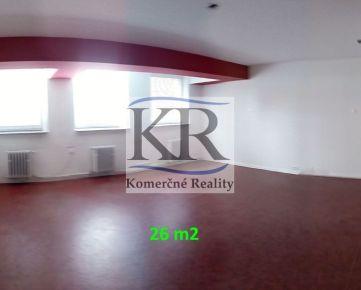 26 m2 - kancelária na PRENÁJOM, Trenčín, Za mostami