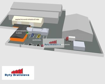 RK Byty Bratislava. Ponúkame Vám na predaj priemyselný areál Bratislava-Nové Mesto.