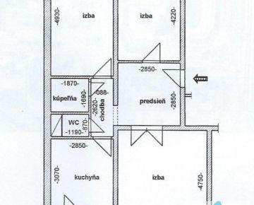 3 izb. byt, ĽUBOVNIANSKA ul., vhodný aj na INVESTÍCIU za účelom prenájmu