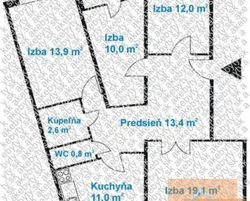 4 izb. byt, FURDEKOVA ul., 2x loggia, po komplet, novej rekonštrukcii
