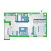 2-izb. byt 51m2, novostavba