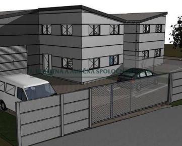 Komárňanská ul. - Predaj 2 rozostavaných skladových hál, SP o výmere 1384 m2