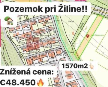 INVESTÍCIA: Rovinatý pozemok Žilina, 1. 570 m2