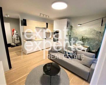 Novostavba 1i byt, 42 m2, zariadený, s predzáhradkou, Gansberg Koliba