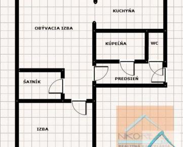2 izb. byt, ul. PLANÉT, balkón, možnosť vstúpiť do rekonštrukcie