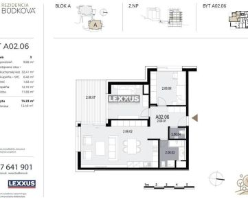 PREDAJ - 3-izbový byt v projekte Rezidencia Búdková, Staré Mesto